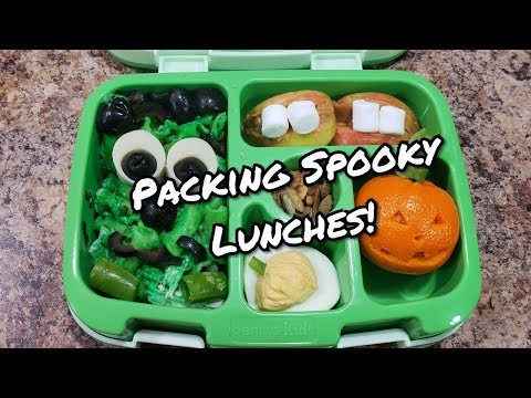 Packing Spooky School Lunches - Bento Style - Bella Boo's Lunches
