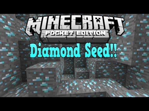 Minecraft Pe - DIAMONDS AT SPAWN! - Minecraft Pocket Edition Best Diamond Seed Ever! 0.15.0
