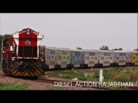 Beautiful Diesel Trains! Speeding LHB Trains in Resurgent Rajasthan! Indian Railways