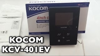KOCOM KCV-401EV. Цветной домофон на 2 камеры. (067)140-53-35 probezpeka.com.ua(, 2016-07-30T07:37:17.000Z)