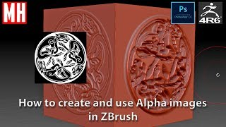 ZBrush Beginner Series 01 : How to create and use Alphas to get detail on your model