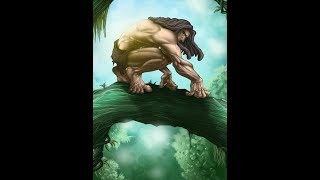 Фрагмент из мультфильма-Тарзан
