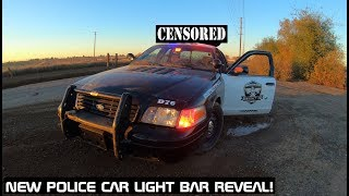 New LED Police Car Light Bar Reveal! Crown Rick Auto