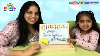 Learn The Alphabet for Kids with Best Magnetic Puzzle Writing Board Baby Learning ABC Magnet Letters