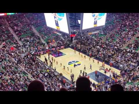 Opening Sequence for Jazz vs. Celtics 2/12/17 Vivint Smart Home Arena