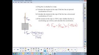 Calculating Tension for Lifting/Lowering Exaṁple Problems