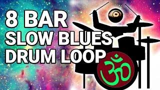 Free 8 BAR SLOW BLUES DRUM LOOP 65 bpm
