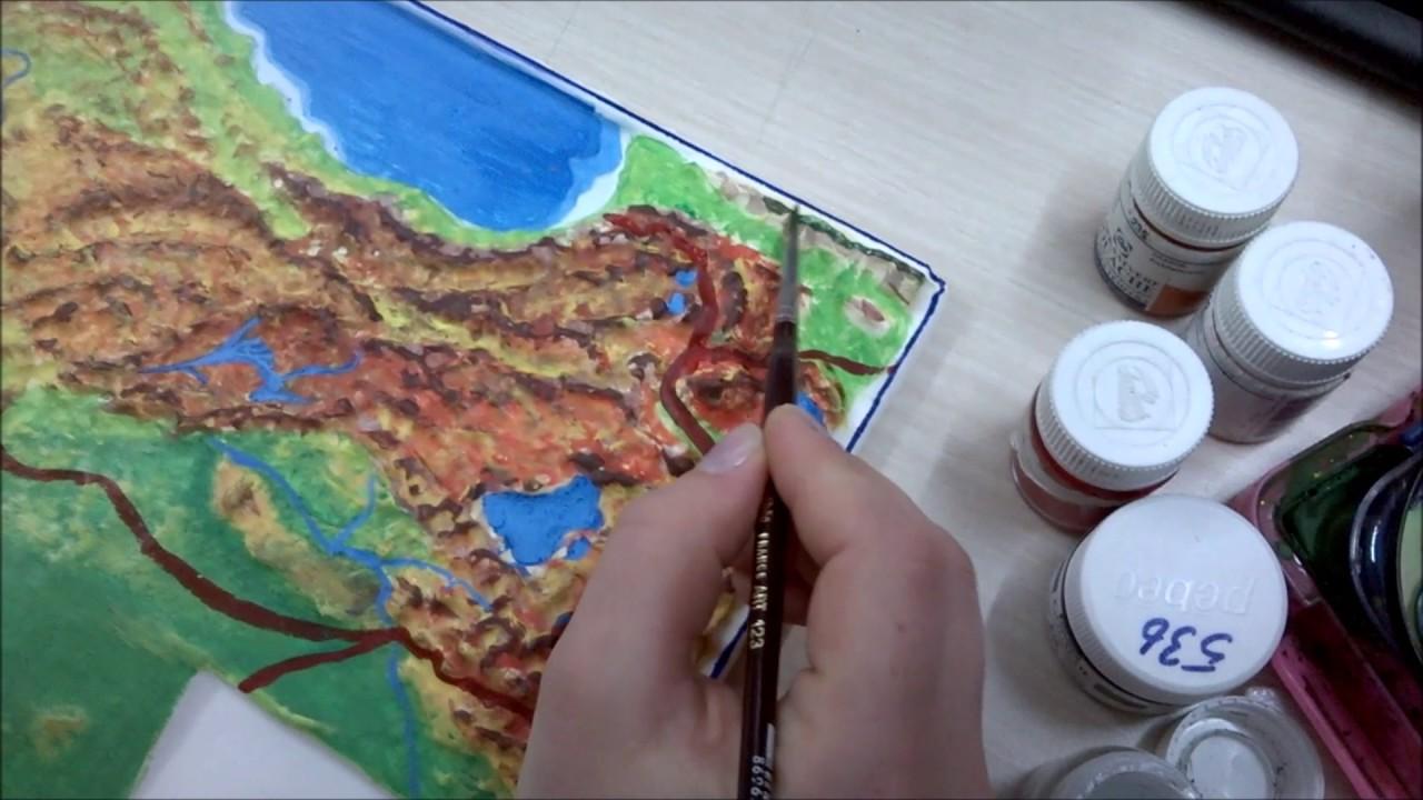 Türkiye Haritası Fiziki çalışmasısulu Boya 2 Youtube