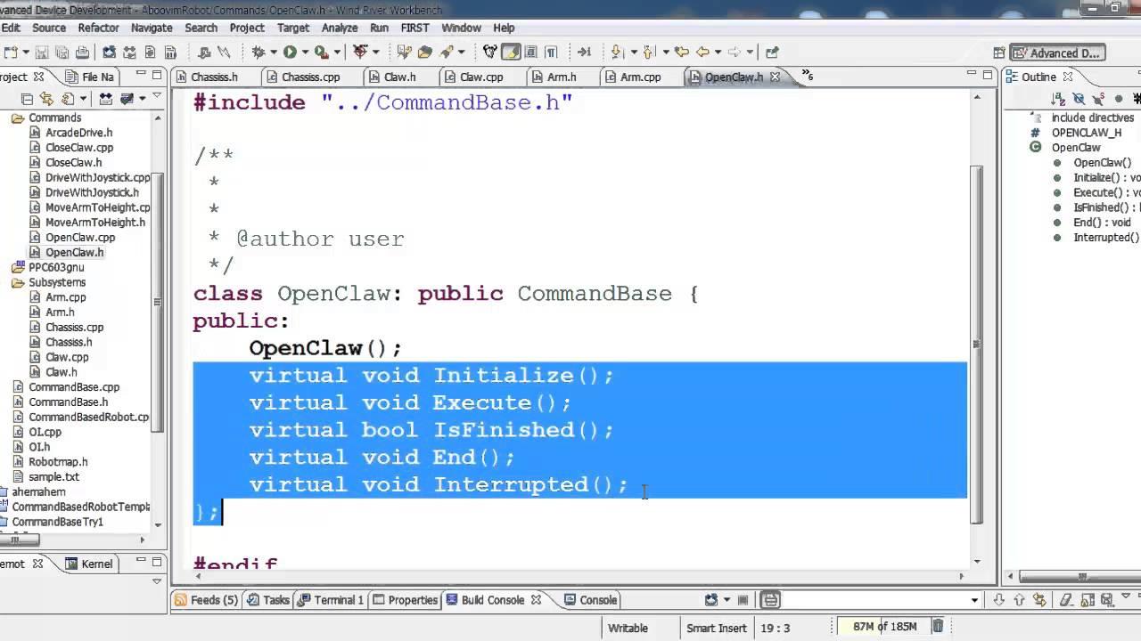 C++ Programming for FRC - CommandBased Robot No.2 - YouTube