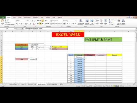 PMT, PPMT, IPMT in Excel | Asha Chawla