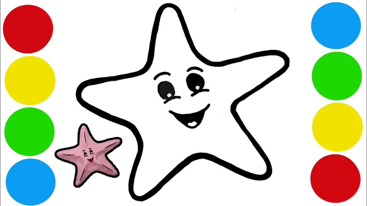 Menggambar Dan Mewarnai Bintang Laut Starfish Dari Play Doh Mainan Lilin Plastisin