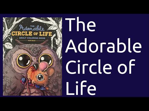 Colouring Book Flip Through The Adorable Circle Of Life