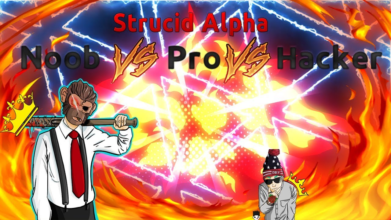 Noob Vs Pro Vs Hacker At Strucid Alpha - YouTube
