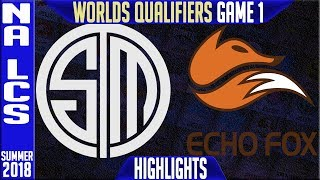 TSM vs FOX Highlights Game 1 | NA LCS Worlds Qualifiers Semi