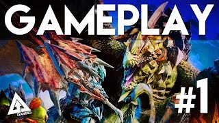 Monster Hunter 4 Ultimate Gameplay Part 1 - Character Creation and First Quest