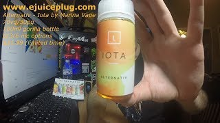 Alternativ by Marina Vape - Iota Ejuice Review!