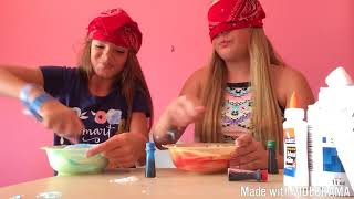 Blindfolded slime challenge!!! She cheated {first video!!}