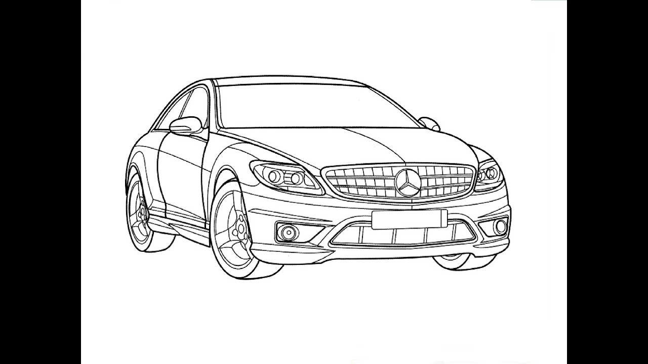 Drawing Lines With C : Speed drawing mercedes benz s class Быстрое рисование