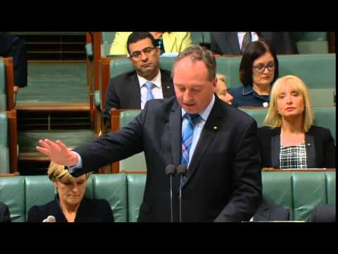141029 Barnaby in QT on the discovery of the ALP Agri policy