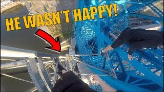 INSANE TRANSPORTER BRIDGE CLIMB *BUSTED*