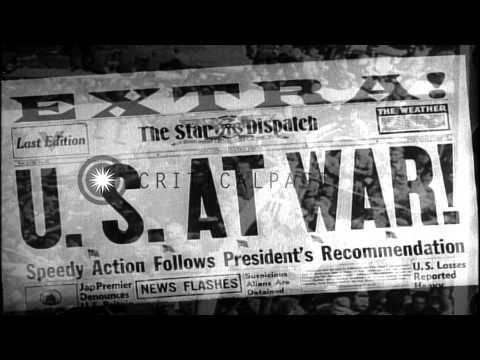 Newspaper headlines relating to World War I. HD Stock Footage