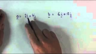 Vectors   How to determine parallel vectors