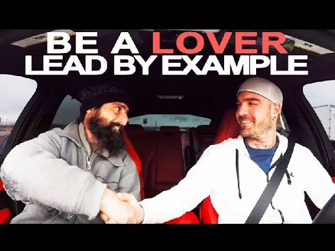 BE A LOVER  |  Lead By Example ~ Lamborghini Owner Picks up A Homeless Man on Flat Earth