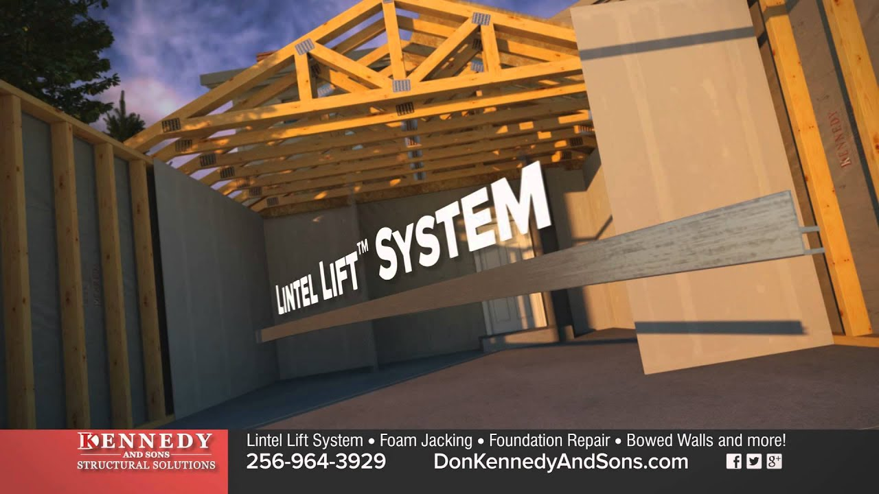 Garage Lintel Repair  Garage Door Header  Don Kennedy and Sons Structural Solutions  YouTube