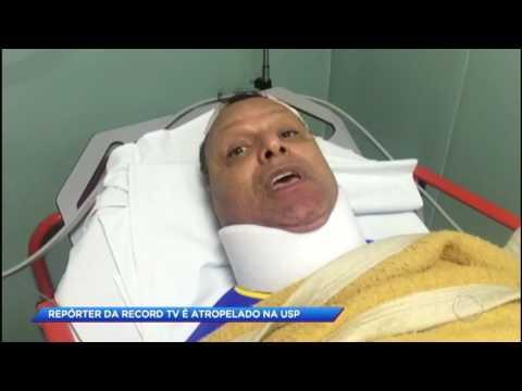 Repórter da Record TV, Carlos Cavalcante, é atropelado durante atividade física na USP