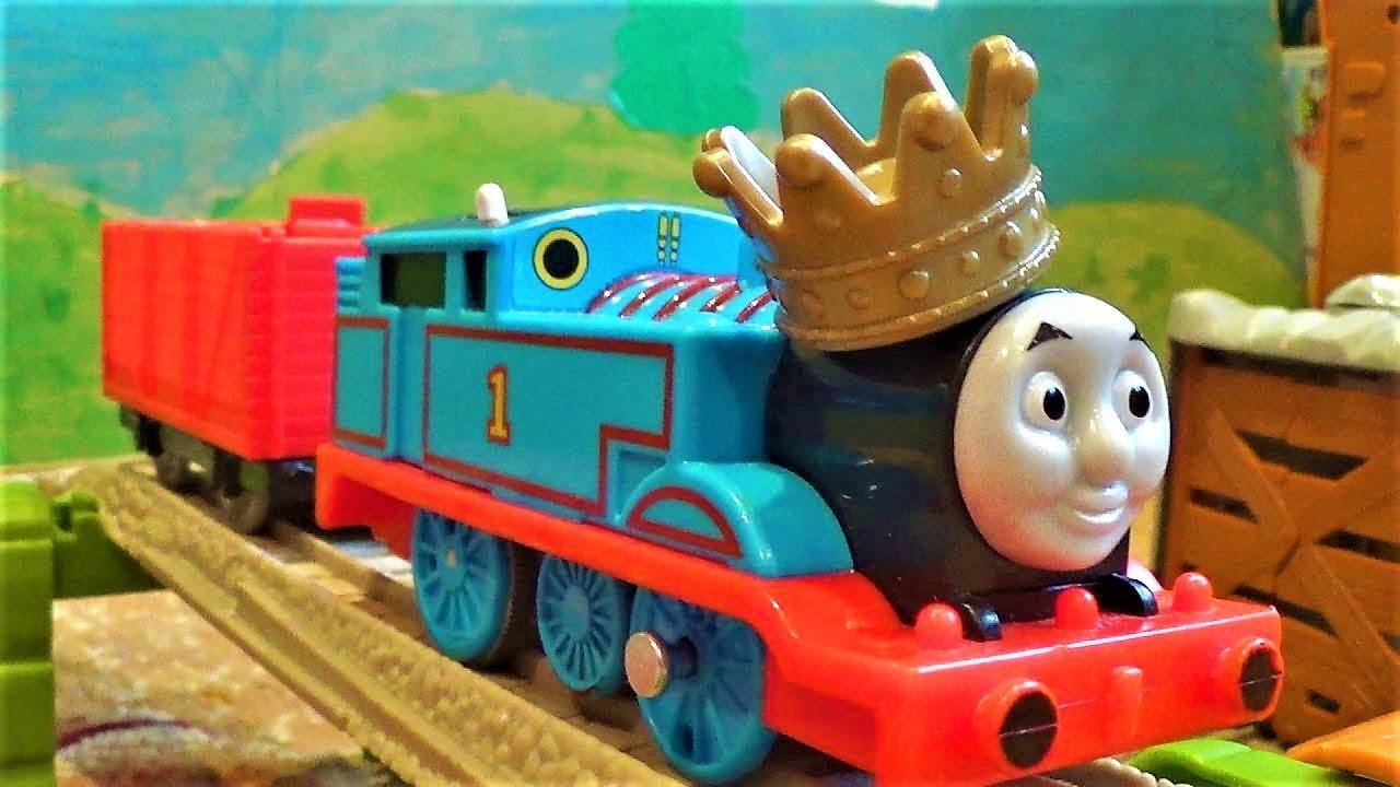 Паровозик Томас и его друзья - доставка сокровищ из замка - видео про поезда для детей