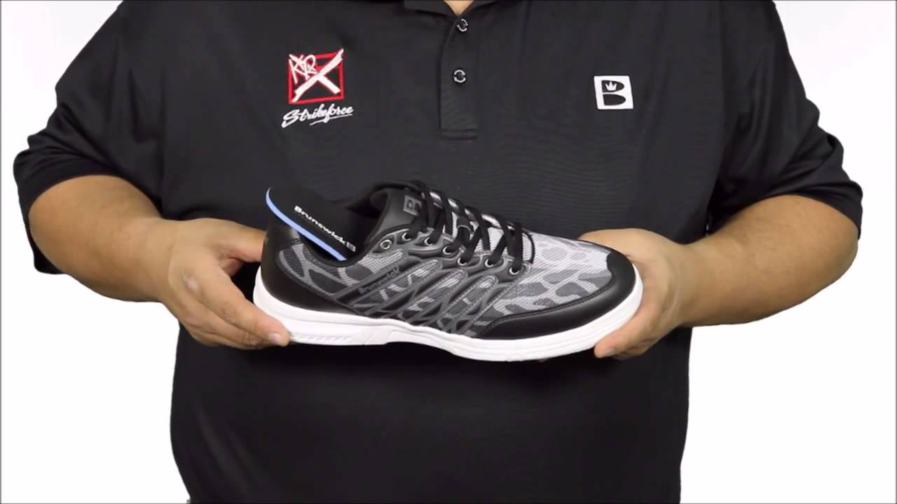 Brunswick Mens Fusion Lite Bowling Shoes - YouTube