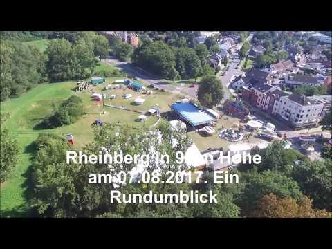 Rheinberg Innenstadt aus 90 m Höhe