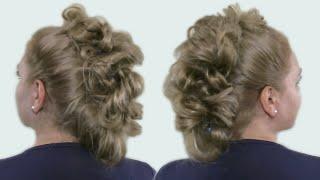 Прическа Вечерняя для Длинных Волос из Пузырьковой Косы| Видео Урок (Часть #2)
