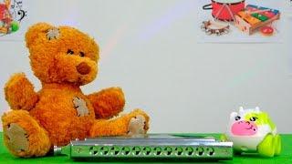 Уроки музыки с Дашей и Мишей: Музыкальные инструменты: Губная гармошка: Видео для детей(Смотрим очередной выпуск передачи для детей