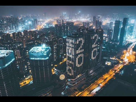 中國成都夜景航拍 2020 Chengdu(Sichuan,China)Night Drone Timelapse Hyperlapse