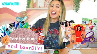 LaurDIY Crafts the CUTEST Collage Using Only Cosmo Magazines (!!) | Cosmopolitan