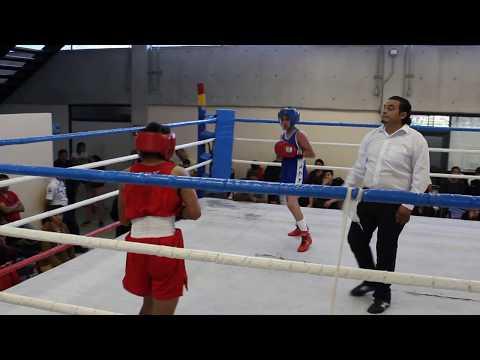 Jeremy Reza (Rojo) Iztapalapa vs. Christian Bejarano (Azúl) G.A.M.