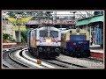 WAP 7 Led Kochuveli Express OVERTAKES MEMU !! Indian Railways