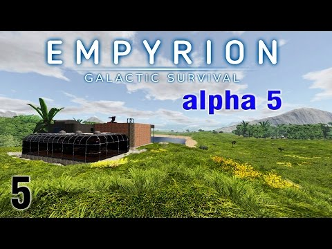 Empyrion Galactic Survival Alpha 5 - session 5 Let's Play! Time to Build a Hover drill!