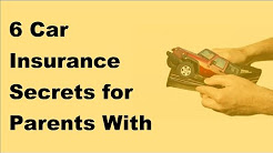 2017 Teen Drivers Basics  -  6 Car Insurance Secrets for Parents With Teen Drivers