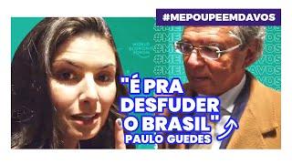 PAULO GUEDES EXCLUSIVO DE DAVOS! Rico vai pagar mais imposto?