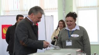 Pavel Grudinin Votes In Russian Presidential Election