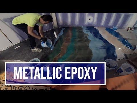 Metallic Epoxy Demo and Unboxing New Equipment