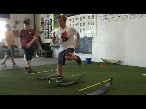 Youth Athletes working on running technique along with some acceleration development 🏎