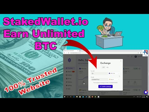 StakedWallet.io | Earn Unlimited BTC Without Any Investment