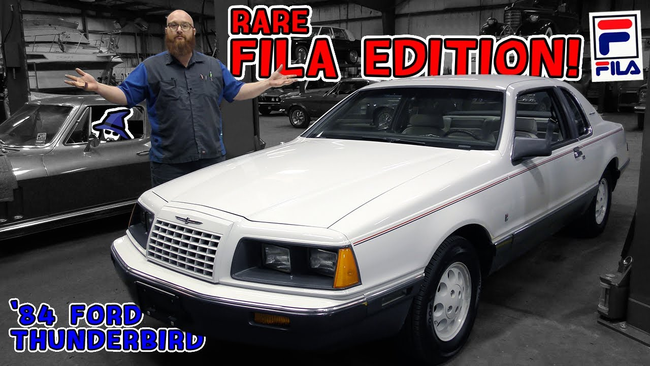 The Car Matches My Shoes?!? The CAR WIZARD has Rare 1984 Fila Edition Ford Thunderbird in his shop