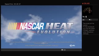 Playing NASCAR HEAT evolution online multiplayer playing with caleb