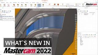 Mastercam 2022: Neuer Mehrachsen-Werkzeugweg 5-Achs-Hybrid    CAD/CAM-Software