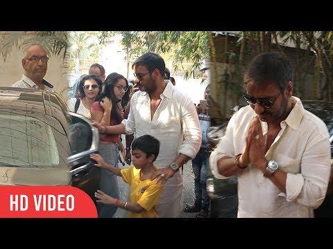 Ajay Devgan watching Golmaal Again with Family   Kajol Devgan, Nysa Devgan, Veeru Devgan, Yug Devgan