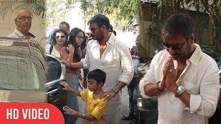 Ajay Devgan watching Golmaal Again with Family | Kajol Devgan, Nysa Devgan, Veeru Devgan, Yug Devgan